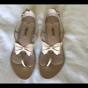 Miu Miu Bow Sandal